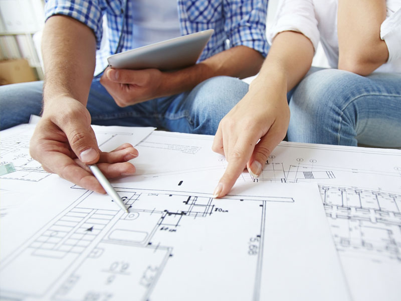 Couple Reviewing Plans